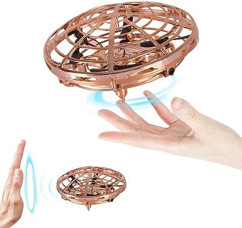 Red Flying Ball Toy Helicopter Infrarot,UFO Mini Drohne Fliegender Ball Handsteuerung Wiederaufladbare Infrarot Induktions Drohne bedienendes Spielzeug f/ür drinnen drau/ßen Jungen M/ädchen