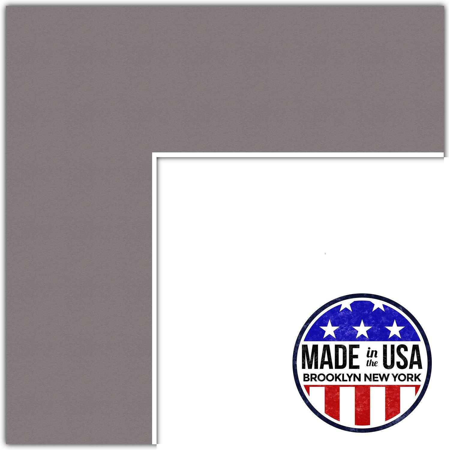 15x21 Cobblestone / Pewter Custom Mat for Picture Frame with 11x17 opening size (Mat Only, Frame NOT Included)