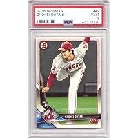 $279 » 2018 Bowman Baseball #49 Shohei Ohtani Rookie Card Graded PSA 9 Mint