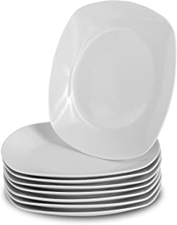 Klikel 8 White Square Dinner Plates - 10-inch Classic Solid Coupe Style Porcelain Dinnerware  sc 1 st  Amazon.com & Amazon.com: YHY 6 Pcs 10.5-inch Porcelain Dinner Plates Square ...