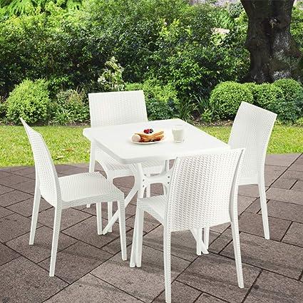 Awe Inspiring Amazon Com Furgle Patio Dining Sets 5 Piece Outdoor Spiritservingveterans Wood Chair Design Ideas Spiritservingveteransorg