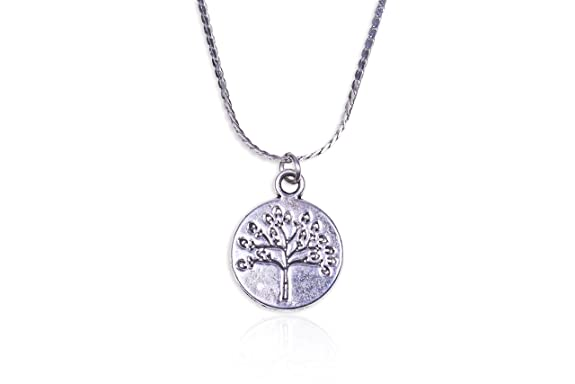 [Sponsored]Locas Biju Handmade Zamak Medal with Tree of Life and Faceted Stones Pendant Necklace QIWvtiqa