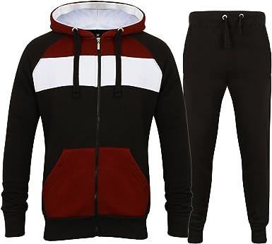 Men/'s Tracksuit Set Thick Fleece Hoodie Top /& Bottoms Joggers Joggings GYM Suit