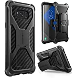 i-Blason Galaxy S8 Plus Case, Transformer [Kickstand] [Heavy Duty] [Dual Layer] Combo Holster Cover Case With [Locking Belt Swivel Clip] For Samsung Galaxy S8 Plus 2017 Release (Black)