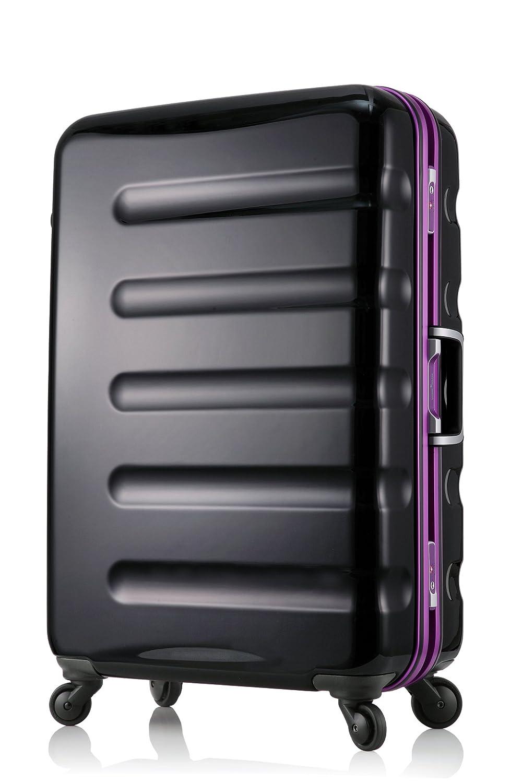 【レジェンドウォーカー】LEGEND WALKER スーツケース アルミフレーム 鏡面ボディ TSAロック 軽量 機内持込~大型 B01LY674DP MLサイズ-66cm(5~1週間)|ブラックパープル ブラックパープル MLサイズ-66cm(5~1週間)