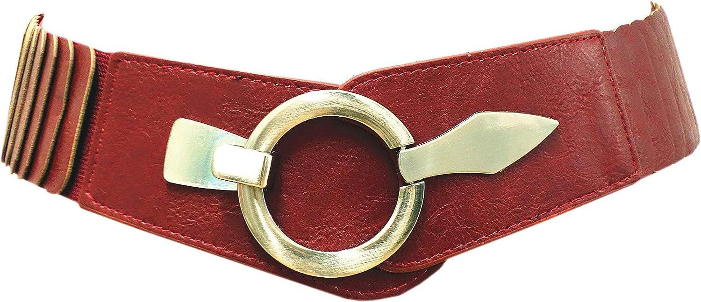 Hüftgürtel One Size Stretch Weiß SA-73 Damen Gürtel Leder Taillen