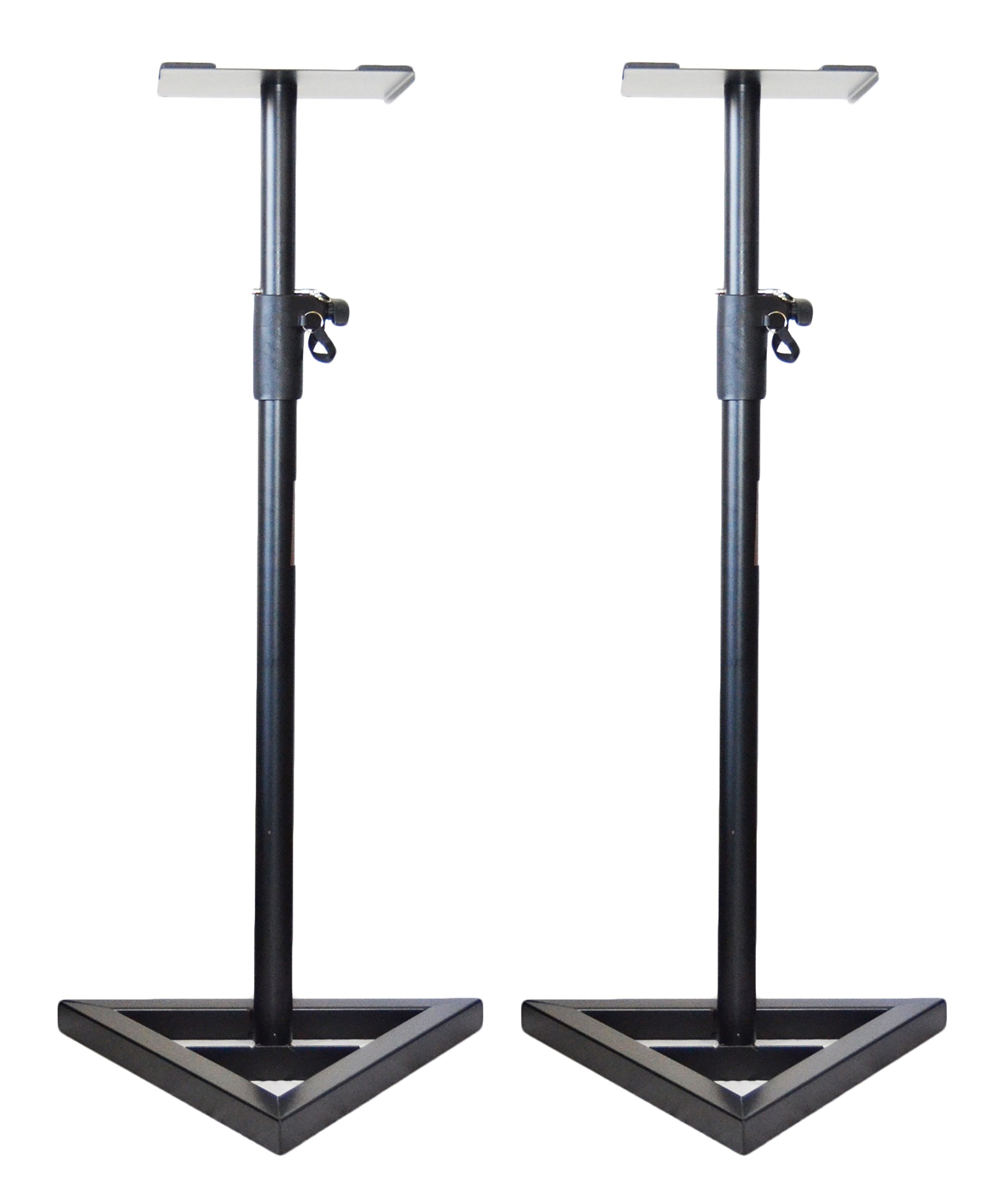 Pair of Ignite Pro Heavy Duty Near-Field Studio Monitor Speaker Stands Adjustable Height by Ignite Pro