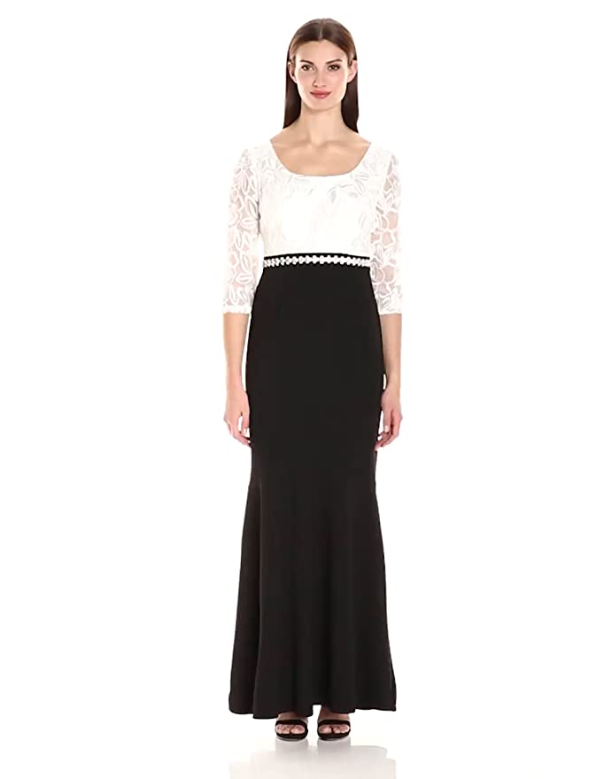 Vintage Inspired Bridesmaid Dresses Alex Evenings Womens Long Fit and Flare Dress $209.00 AT vintagedancer.com