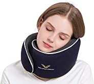 ComfoArray Travel Pillow, Neck Pillow for Airplane and Car. New Upgrade in 2019,Wider Adjustable Range, Suitable for Everyone