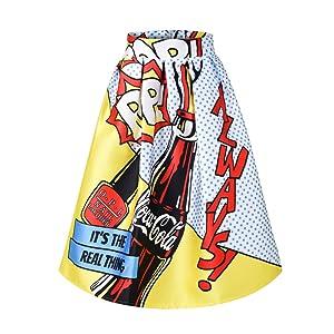 YITL Women's High Waisted A line Street Skirt Skater Waist Flare Pleated Midi Skirt 22L