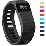 Teslasz Fitness Tracker, Bluetooth 4.0 Sleep Monitor Calorie Counter Pedometer Sport Activity Tracker for Android and IOS Smart Phone