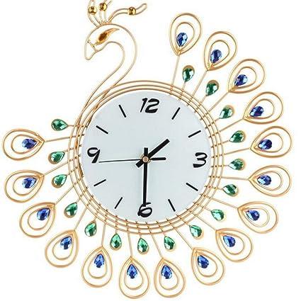 H&M Reloj de pared de hierro creativo relojes y relojes, de largo reloj de moda