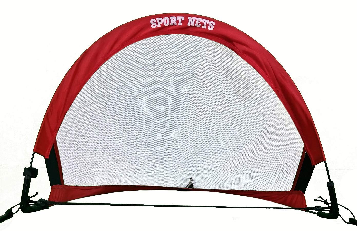 Sport Nets Portable Pop-Up Soccer Goals - Set of Two Soccer Nets with Carry Bag - Portable and Foldable 2.5ft, 4ft and 6ft Size Sets For Kids and Adults Soccer Training (4 FT (Goals & Bag))