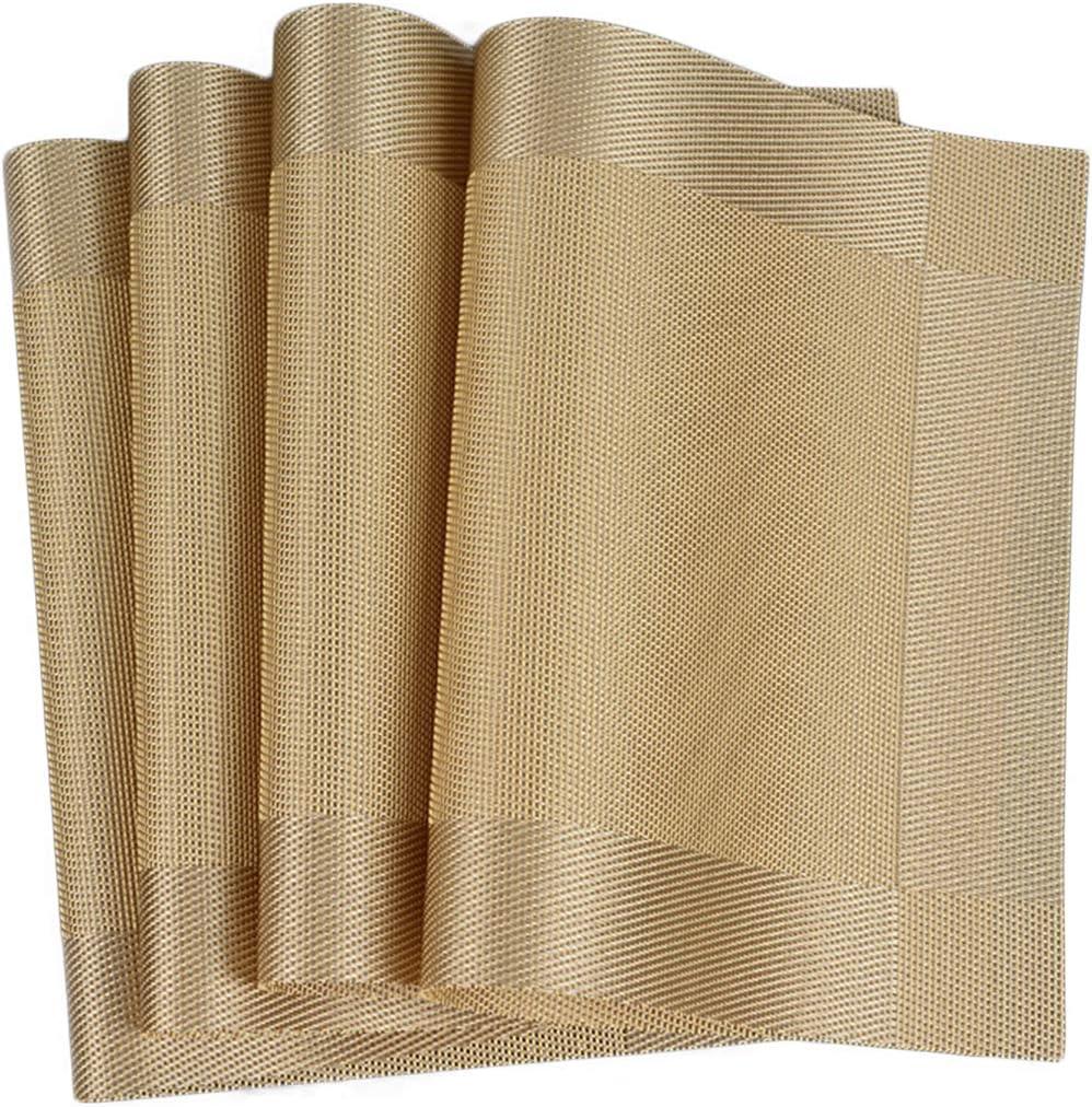 De Dooppa Antideslizantes y lavables Juego de 4/manteles individuales de PVC aislante para mesa