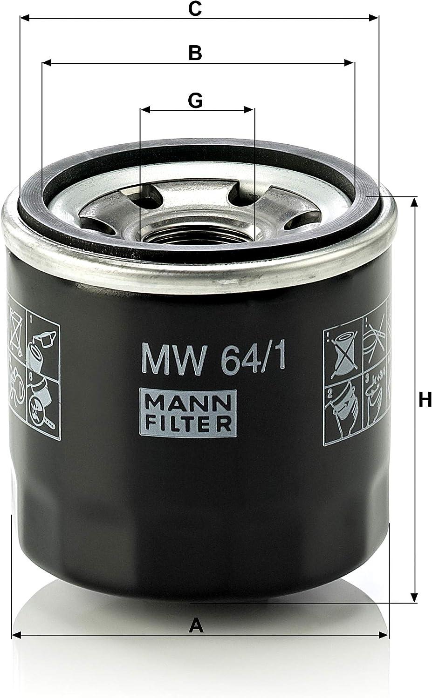 Original Mann Filter Mw 64 1 Motorrad Ölwechselfilter Für Motorräder Auto