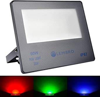 Foco LED 50W RGB, 16 Colores 4 Modos Reflector Cambiante de Color ...