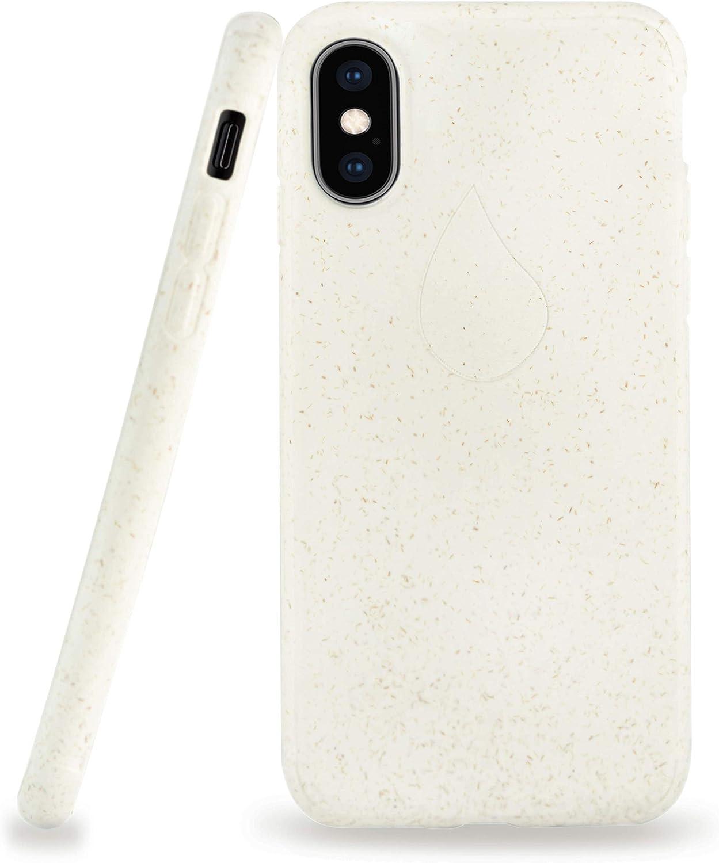 NAJTURE® Forro de Teléfono Compostable – Hecho para iPhone X, XS | 100% Biodegradable, A Base de Plantas, Ecológico, Cubierta Protectora (Nieve Blanca): Amazon.es: Electrónica