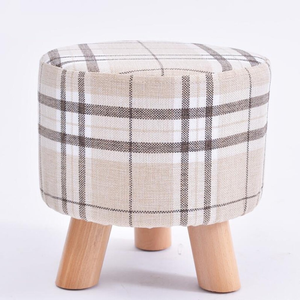 Rollsnownow White Lattice Three Footstool Round Stool Moda usando un Taburete Taburete bajo Creativo del sofá del Taburete