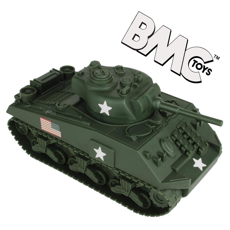 BMC WW2 Sherman M4 Tank - Dark Green 1:32 Military Vehicle for Plastic Army Men BMC Toys 49990