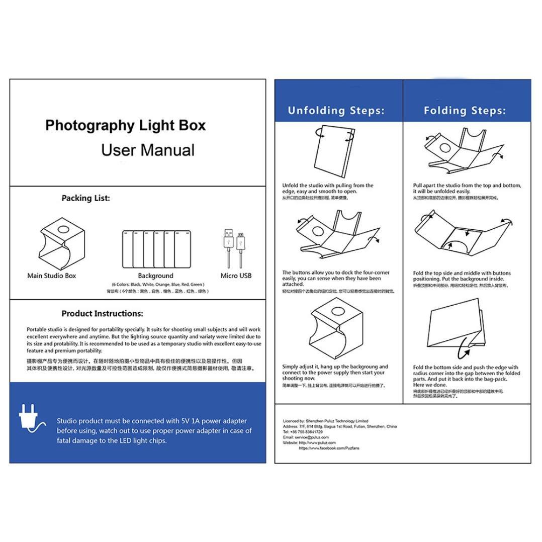Mamum - Nueva caja de luz, estudio fotográfico con dos tiras de ...