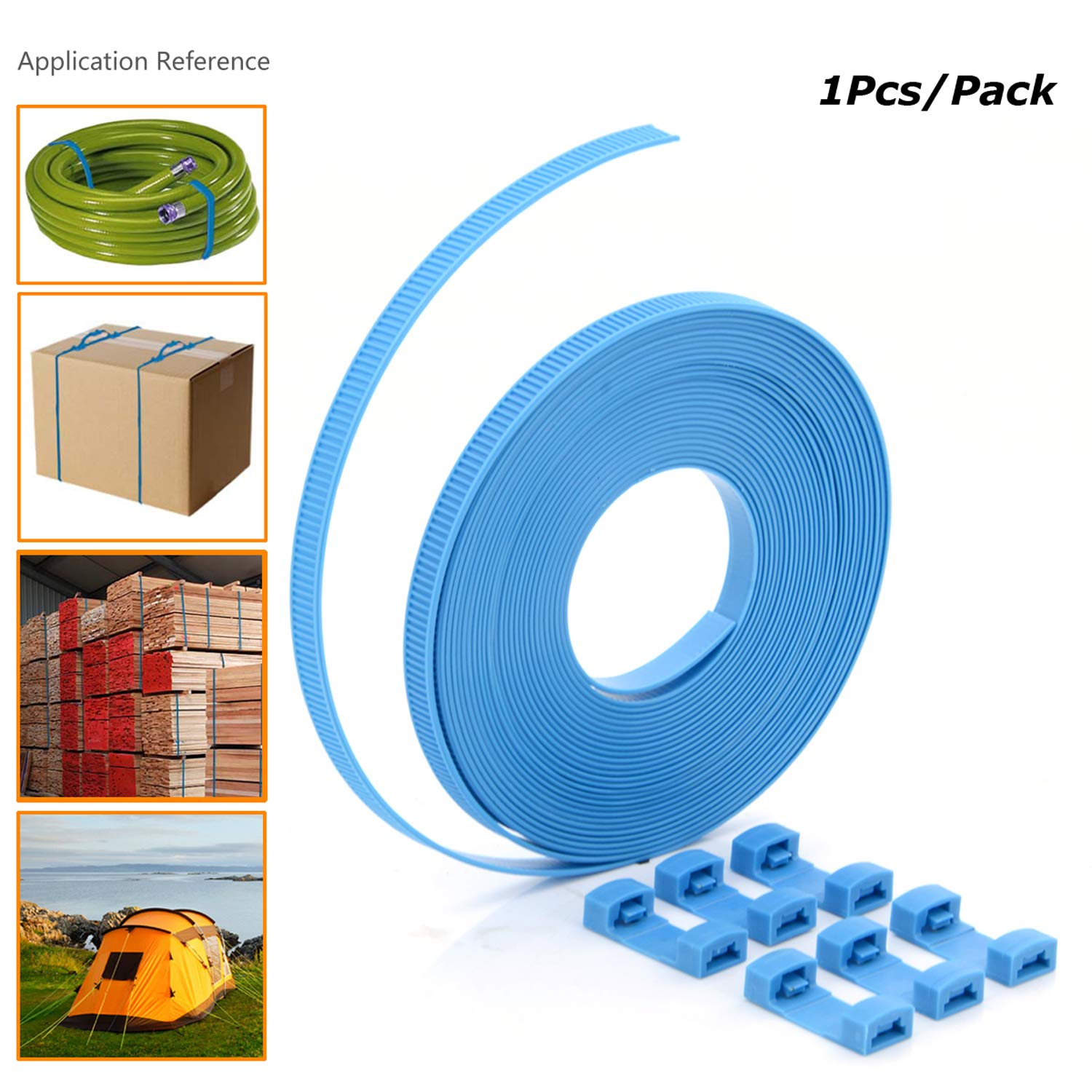 Zip Ties,U-TIMES Nylon Cable Ties For Binding Baggage Cargo,Ultra Long 8 Meters Cable Roll With Connectors - Without Scissors - 1 Pcs/Pack by UTIMES (Image #2)