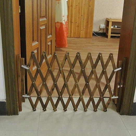 Puerta para Animales Extensible, Barrera de Perro de Madera ...