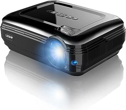 LESHP HD Proyector LED 1080P, 3200 Lumenes, 1280 x 800 hasta 1080P ...