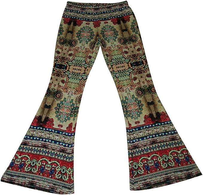 Yying Pantaloni Bootcut Donna Pantaloni a Vita Alta Flare Marlene Pantaloni Fiori Stampati Eleganti Pantaloni Casual Abiti da Sera festosi Partywear