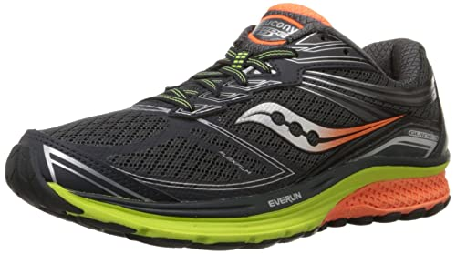 Saucony Men's Guide 9 Trail Running Shoes, Grey (Midnight/Citron/Orange)