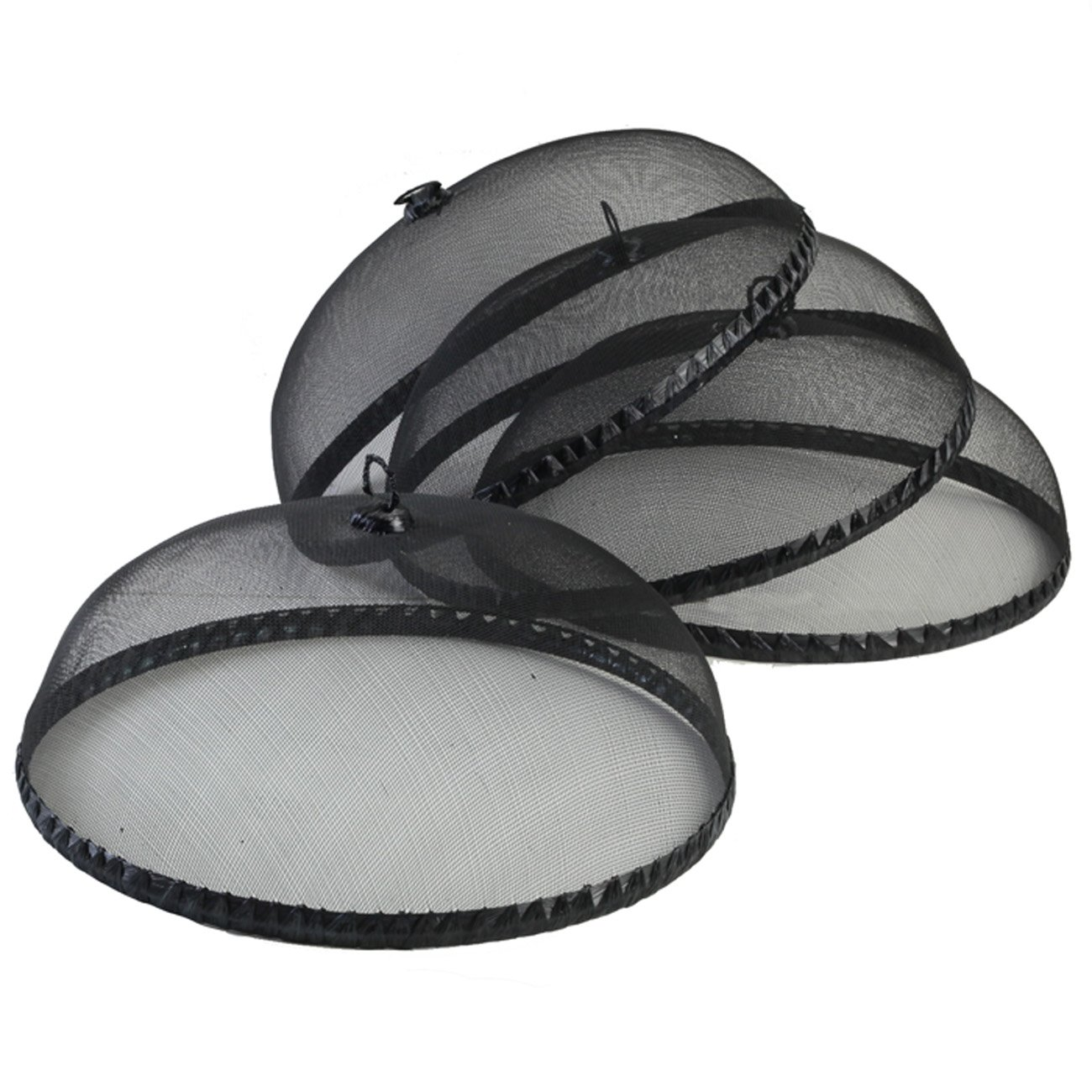 Woodard and Charles Food Domes, (Set of 4), Black WDS026-4AMA