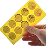 Lip Balm Stickers for Lip Balm Container Lip Balm Labels Circle Paper Stickers 5sheet 50pcs