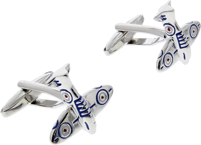 Zacs Alter Ego Spitfire Fighter Plane Cufflinks in Gift Box
