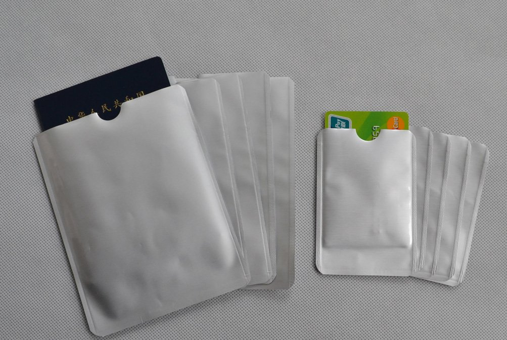 20 x RFID Blocking ID Credit Card 5 x Passport Secure Sleeve Protector Holder Shields Anti Theft