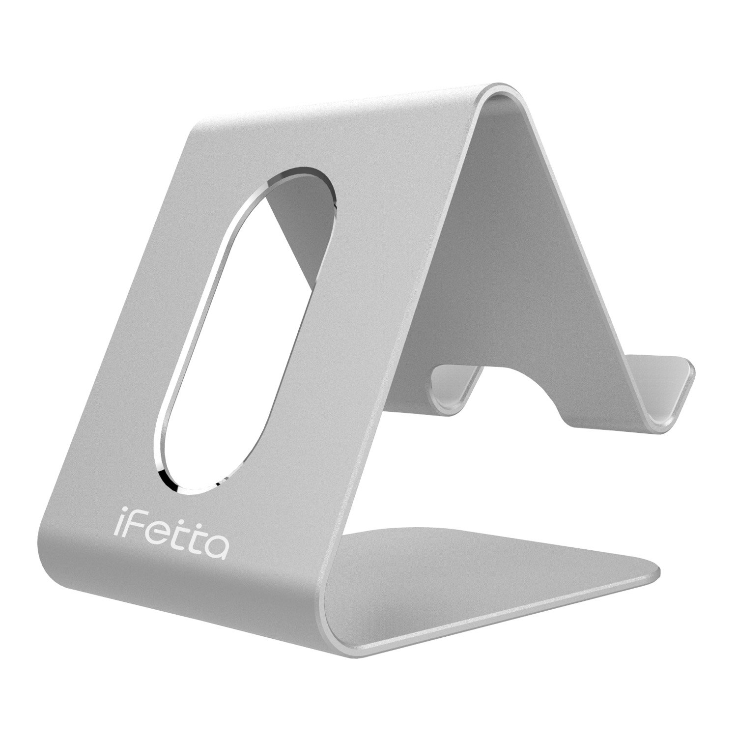 Cell Phone Stand, Ifecco Mobile Phone Holder for Tablet All Android Smartphones, iPhone 7 Plus iPad (Upgrade Silver)