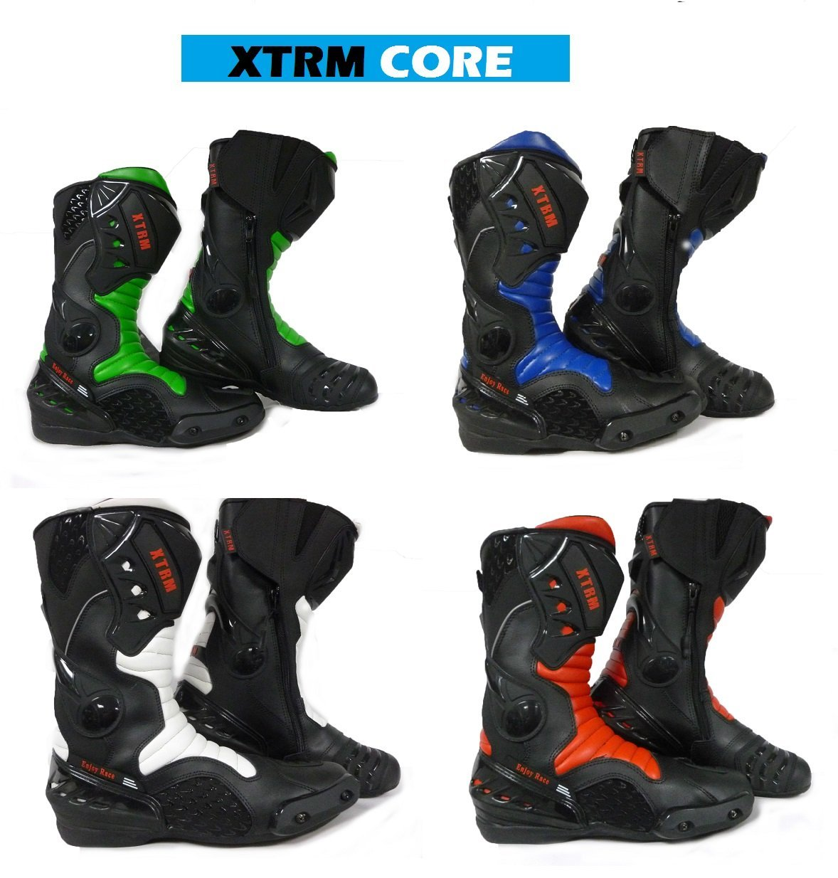 Motorcycle Boots XTRM CORE Racing Sports Boots Motorcycle Touring Armour Boots CE Approved XTRM CORE BOOTS