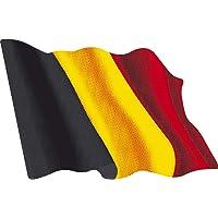 Artimagen Pegatina Bandera Ondeante Bélgica Mediana 80x60 mm.