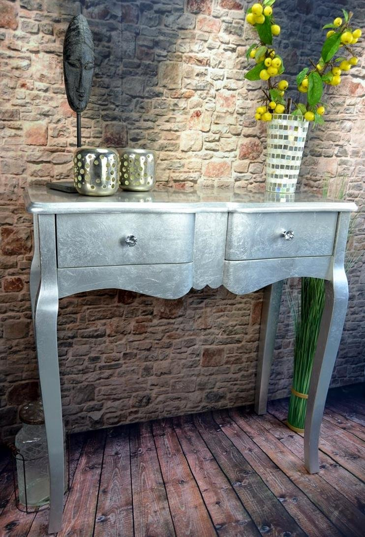 Livitat® Kommode mit 2 Schubladen Pomp Silber barock barock barock antik pompös Landhaus LV2012 eb97fe