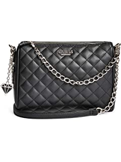 6c9477e05e1 Amazon.com: GUESS Factory Women's Marisol Quilted Crossbody: Shoes