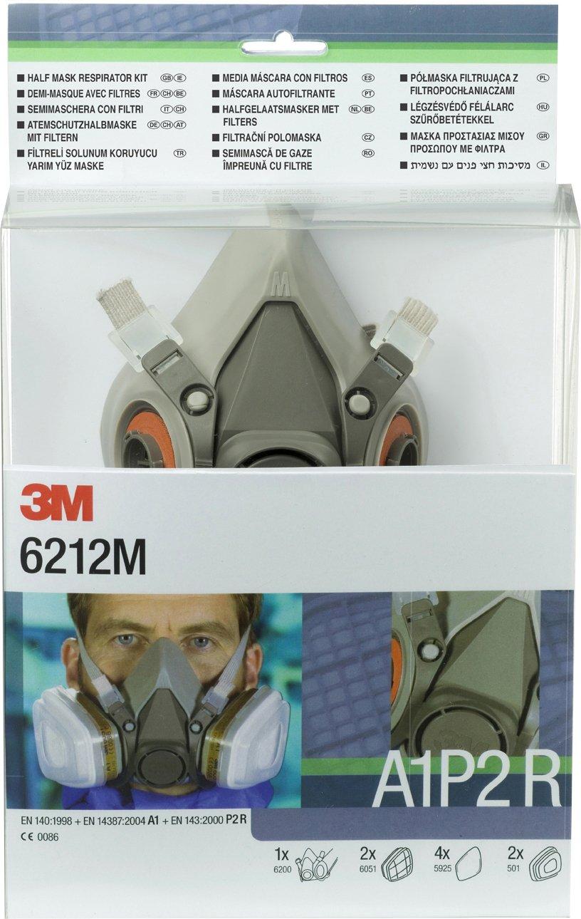 Kit demi-masque réutilisable série 6000 A1P2 3M™ 6212M, Certifié EN sécurité Certifié EN sécurité DE272917274