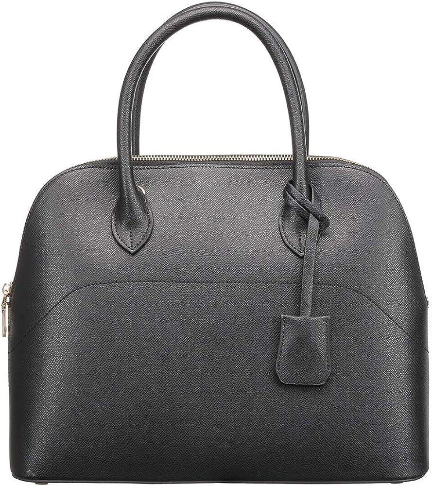 H2&B Women's Italian genuine Leather Handbag Shoulder Bag fashion Tote Bag for Shopping and Gifts