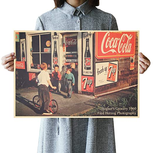 jiushice Cartel Retro American Street Shop Poster Vintage ...