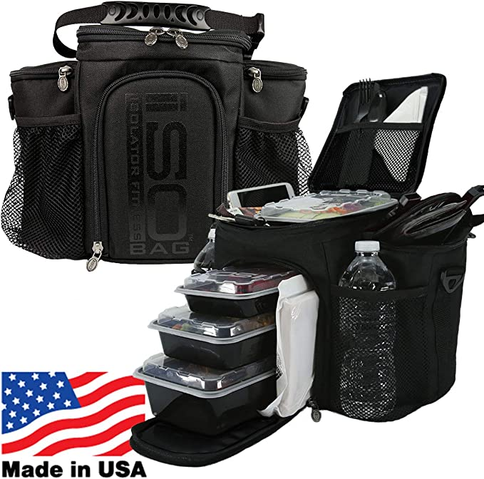 Meal Prep Bag ISOBAG 3 Meal Insulated Lunch Bag Coole