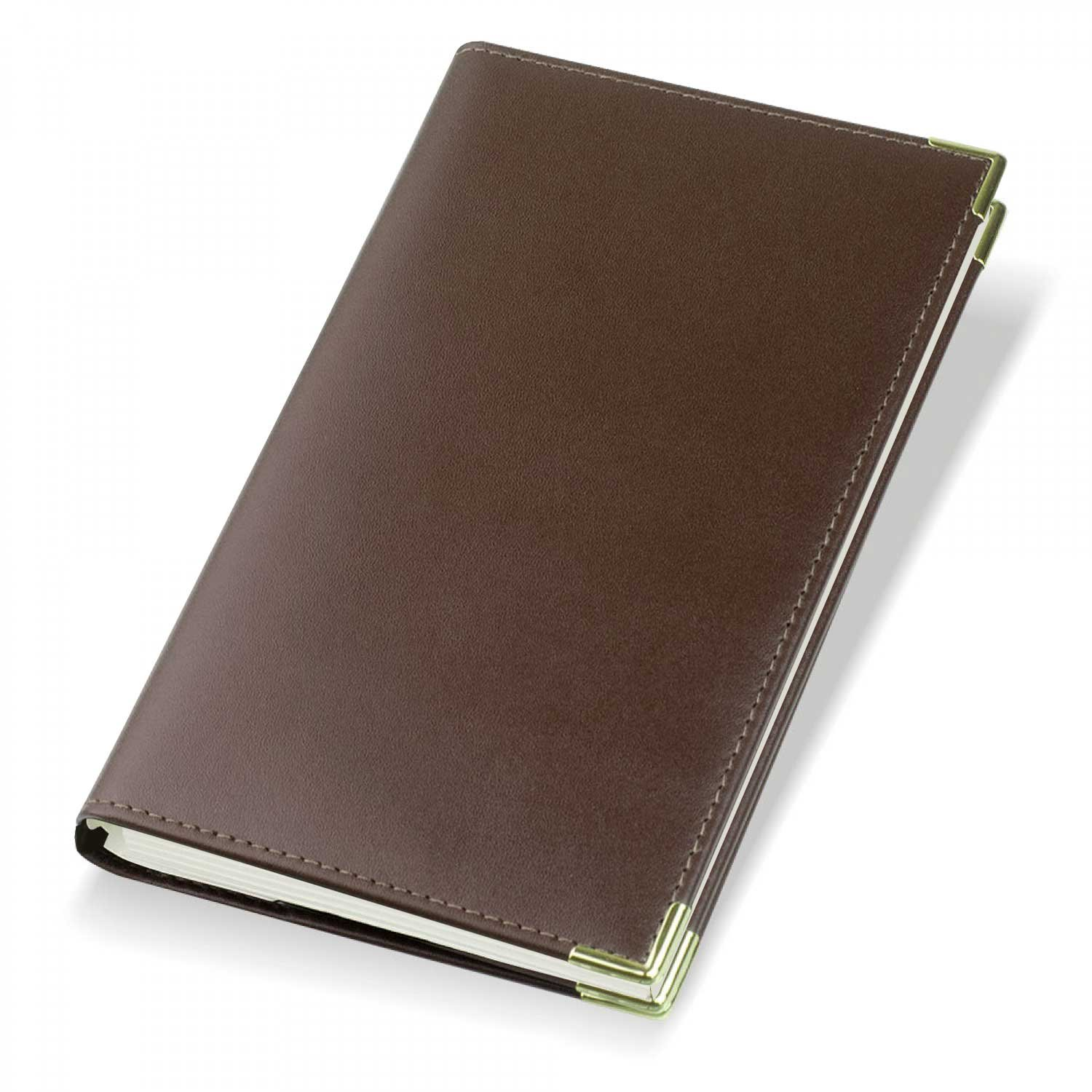 2019 Oxford Leather Diary Cover and Diary Insert - Brown - Refillable - 901 Gilt Edged Promotions