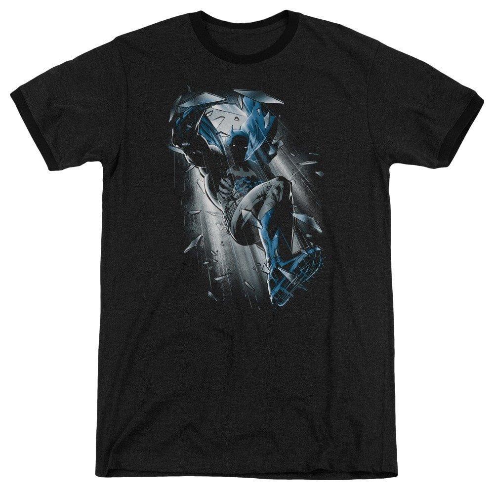 Sons of Gotham Batman Shirt L Bat Crash Adult Ringer T