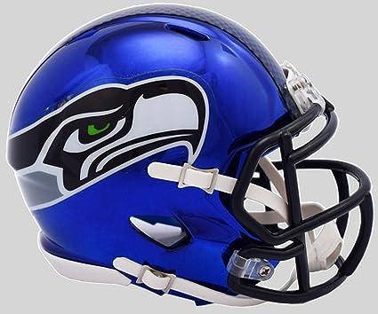 149b4cc963716 Riddell - Réplica de Casco de tamaño Completo de NFL para Seattle Seahawks  (Cromo)