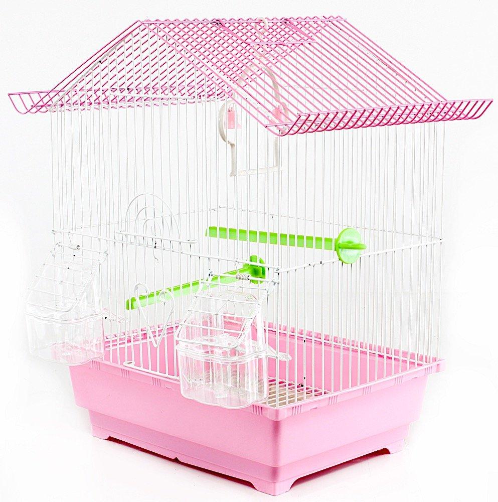 Jaula para pájaros, de metal, con accesorios, de 30 x 23 x 39 cm ...