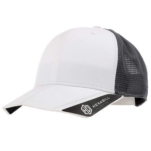 d93fdb9e REDBEETLE HEXABILL Two Tone Mesh Cap Blank Hat (White) at Amazon Men's  Clothing store: