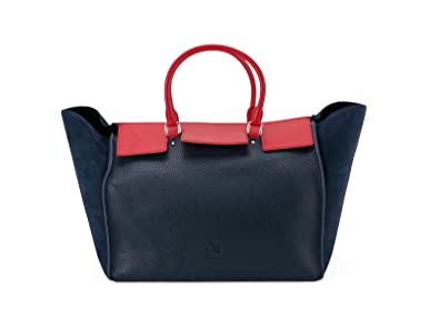 Carolina Herrera Bolso Vendome Azul Marino y rojo: Amazon.es ...