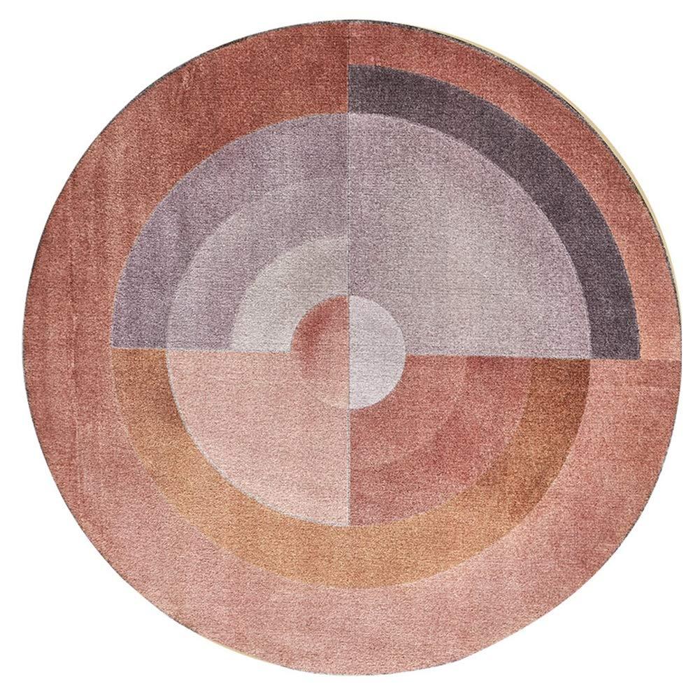 ラグ カーペット マット キッチンマット 抗菌 ラウンドファングラデーションシンプルクリエイティブリビングルームベッドルームサイドテーブル TINGTING (色 : Brown, サイズ さいず : 150cm) 150cm Brown B07KXM8M5B