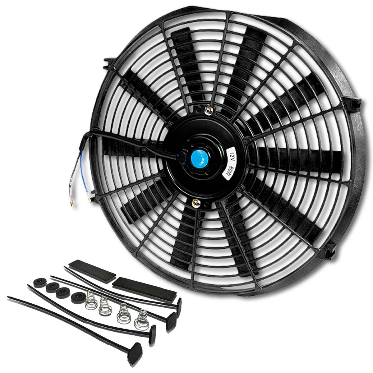14 Inch High Performance Black Electric Radiator Cooling Fan Kit